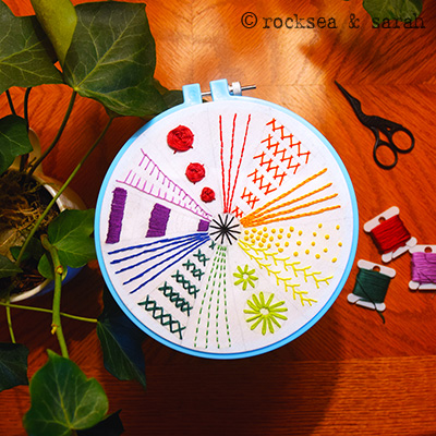 The 12 Basic Stitches And Color Wheel Sampler Sarah S Hand