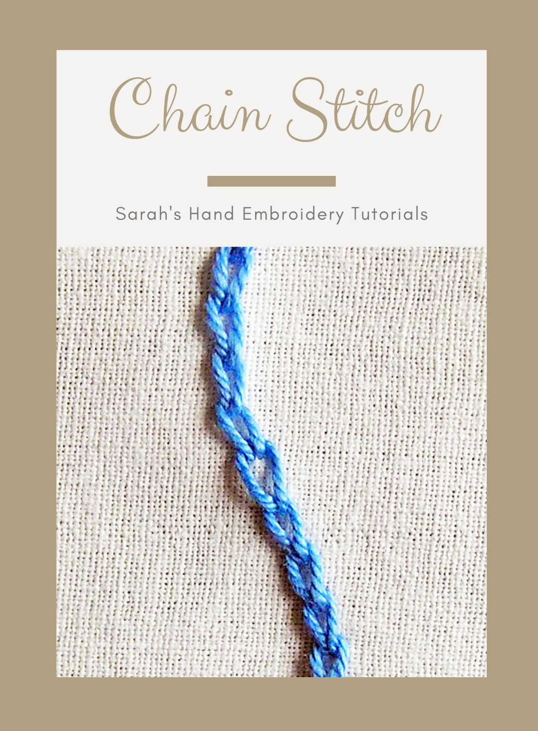How To Do The Chain Stitch Sarah S Hand Embroidery Tutorials