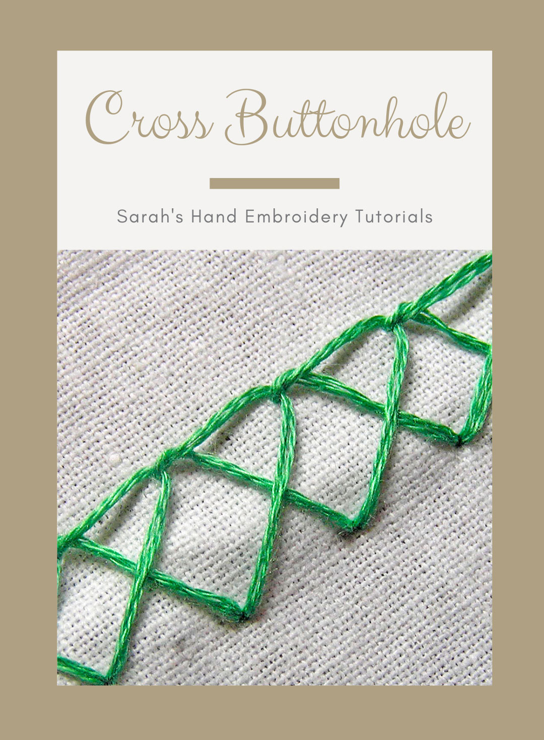 Crossed Blanket Stitch Sarah S Hand Embroidery Tutorials