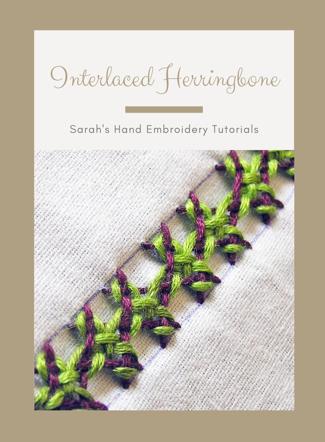 Interlaced Herringbone Stitch – Sarah's Hand Embroidery Tutorials