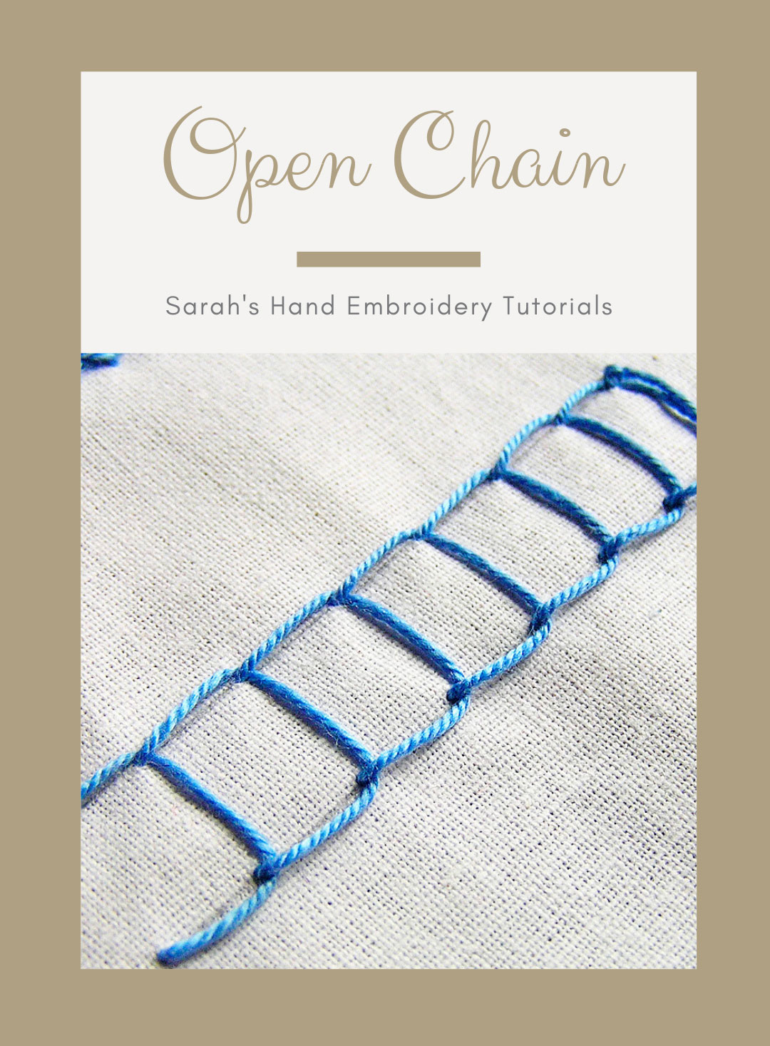 How To Do Open Chain Stitch Sarah S Hand Embroidery Tutorials