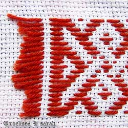 pattern darning lesson 4