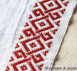 pattern darning lesson 5