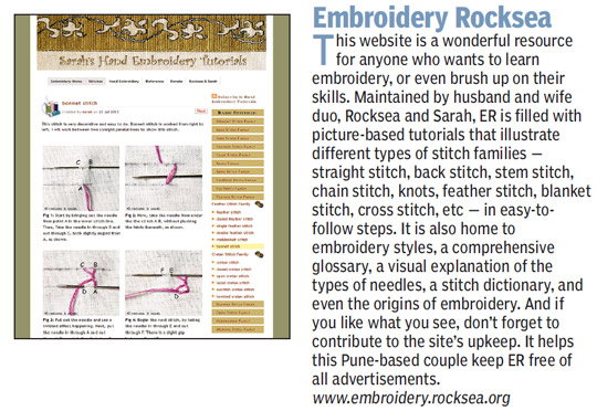 Sarah's Hand Embroidery featured in Times of India