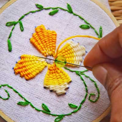 Sarah S Hand Embroidery Tutorials Library Of Embroidery Stitches Patterns Projects And Books
