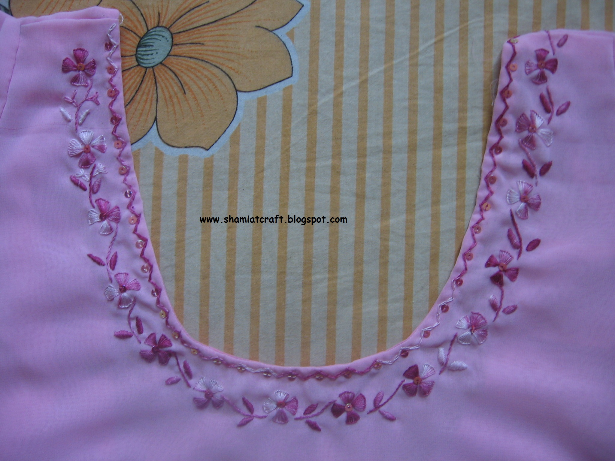 Here Is My Another Project With Buttonhole Stitch For Flowers