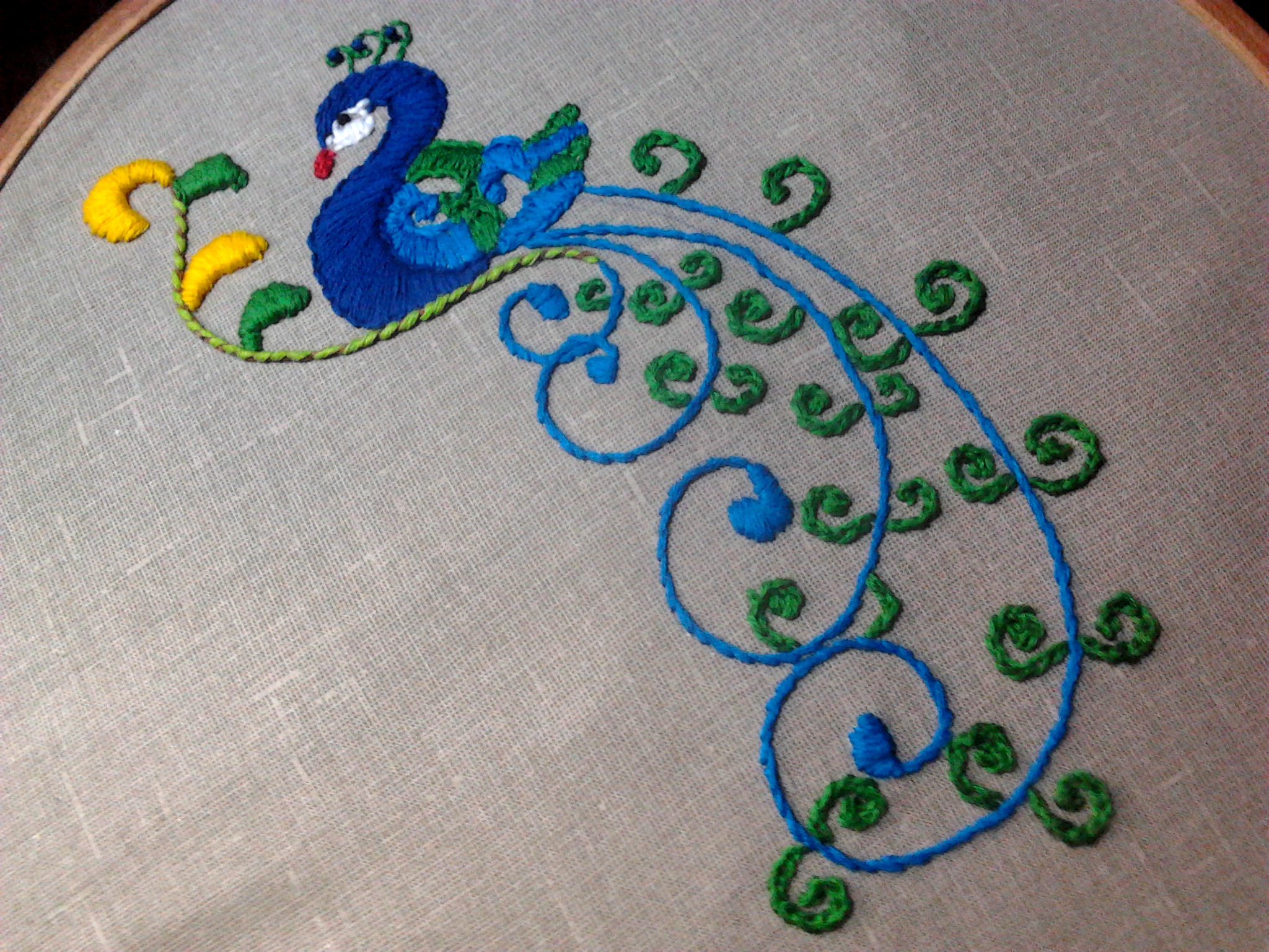 Back Stitched Chain Stitch Sarahs Hand Embroidery Tutorials