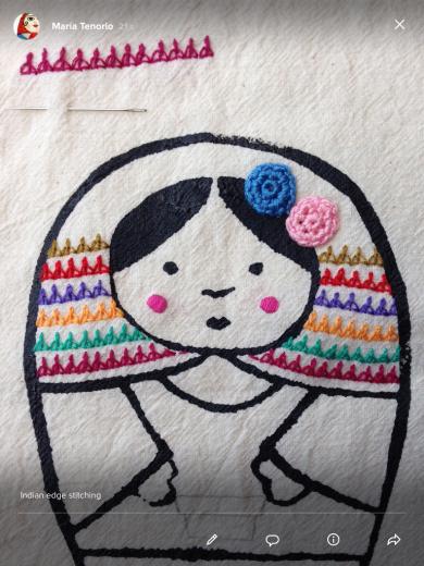 Indian edging stitch sarah s hand embroidery tutorials